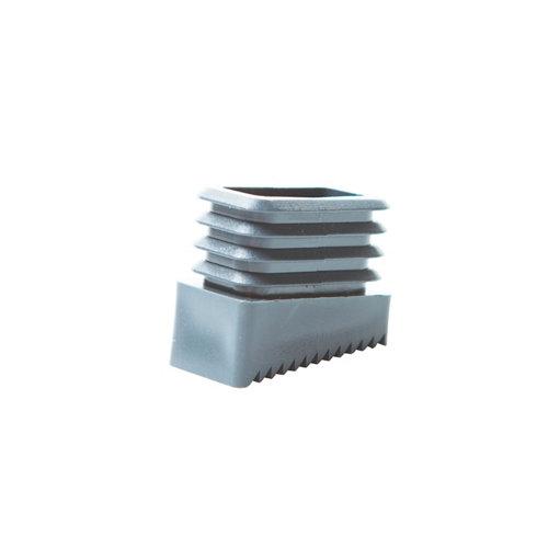 2 contera de plástico rectangulares de 20 x 40 mm