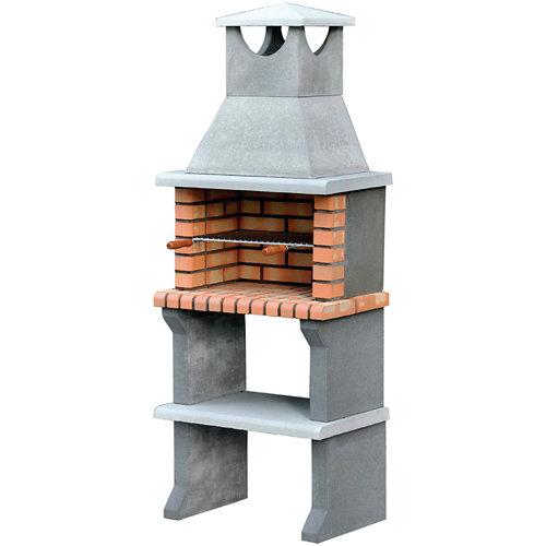 Barbacoa de hormigón / ladrillo luna 190x73x47 cm de 315 kg