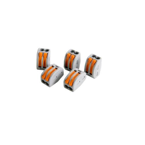 Pack de 5 conectores rápidos de 2 entradas hasta 4 mm²