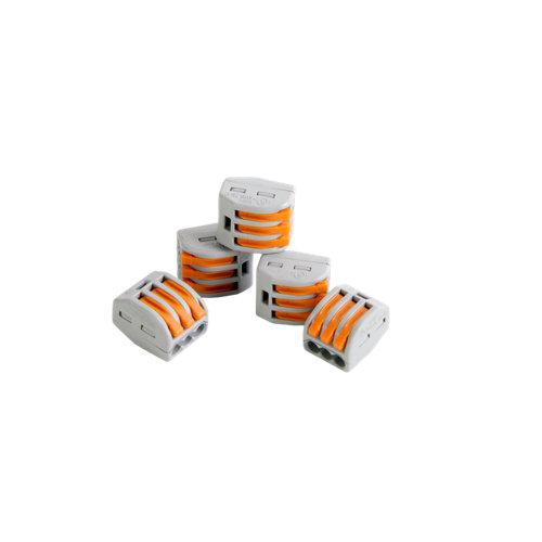Pack de 5 conectores rápidos de 3 entradas hasta 4 mm²