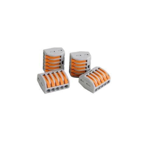 Pack de 4 conectores rápidos de 5 entradas hasta 4 mm²