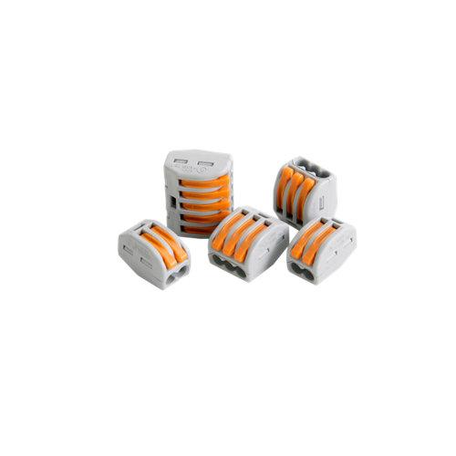 Pack de 5 conectores rápidos surtidos hasta 4 mm²