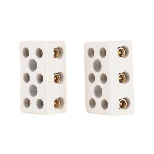 Regleta de conexiones cerámicas de 3 entradas hasta 16 mm²