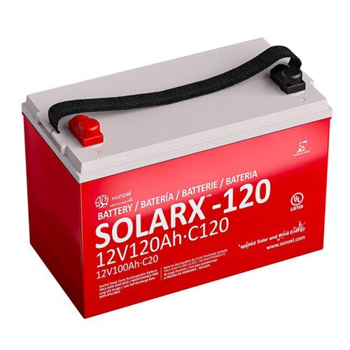 Batería solar solarx-120 xunzel 12v larga duración, sellada, sin mantenimiento