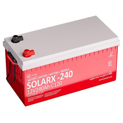Batería solar solarx-240 xunzel 12v larga duración, sellada, sin mantenimiento