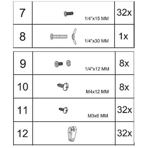 Set de tornillería para pérgola imitación madera 3x3