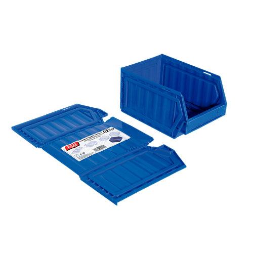 Gaveta de plástico en azul encajable de 16x13x23.6 cm