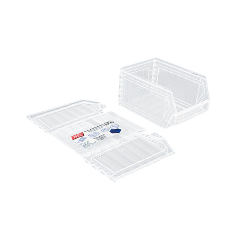 Gaveta de plástico en incoloro / transparente encajable de 16x13x23.6 cm