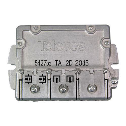Derivador ict b televés de 2 direcciones y 20 db