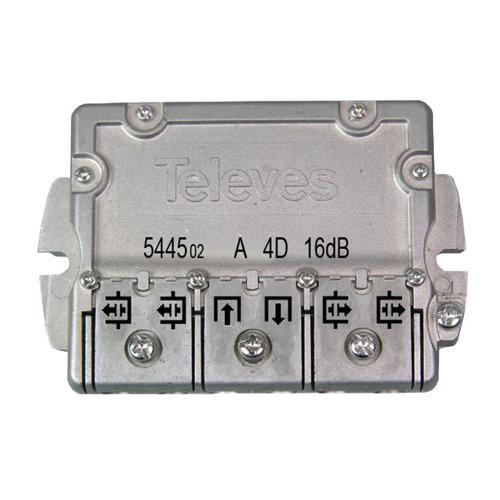 Derivador ict a televés de 4 direcciones y 16 db