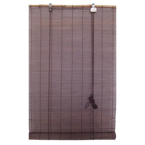 Estor enrollable de bambú salinas chocolate 60x180 cm