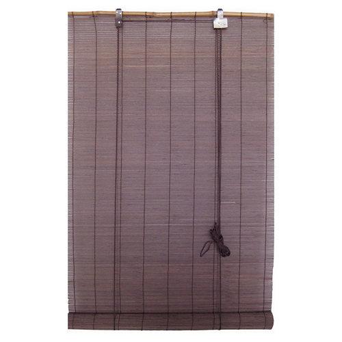 Estor enrollable de bambú salinas chocolate 150x200 cm
