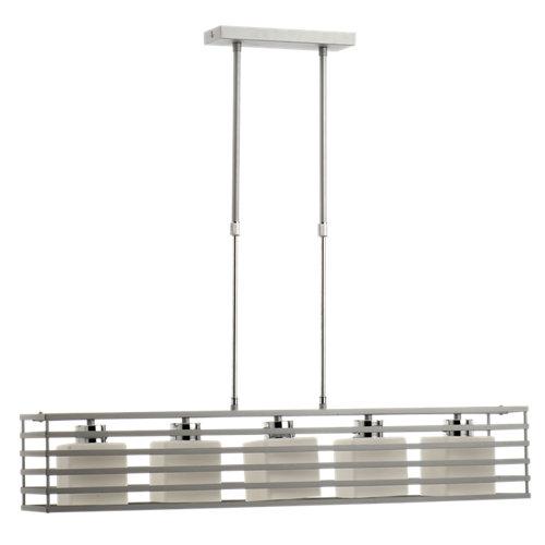 Lámpara de techo cell plateada 5 luces
