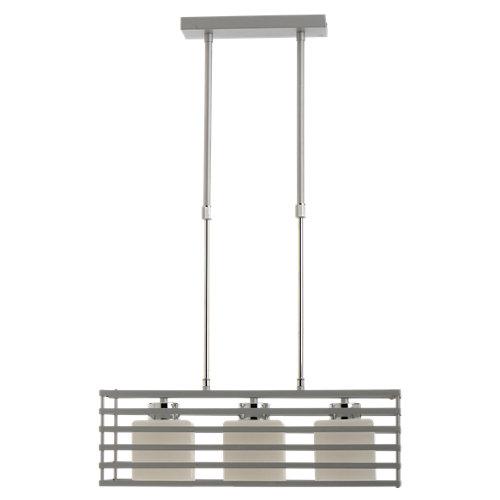 Lámpara de techo cell plateada 3 luces