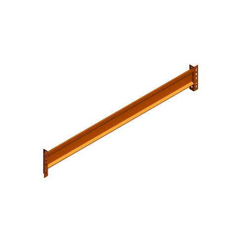 2 larguero para estantería de acero epoxi de 240x7x3 cm