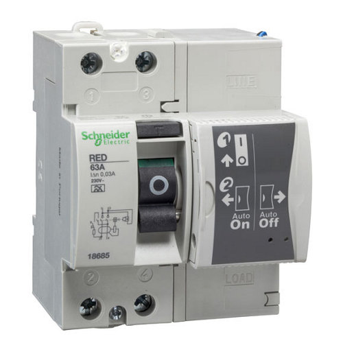 Diferencial bipolar rearmable schneider electric 40a