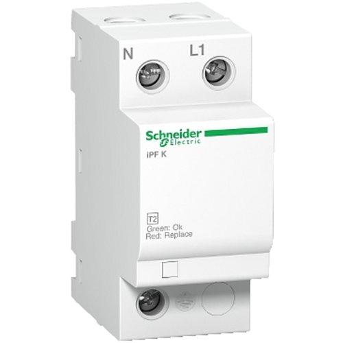 Interruptor magnetotérmico unipolar + neutro schneider 25 a con 2 módulos