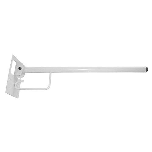 barra abatible con portarrollos para wc blanco 73x21.5 x cm