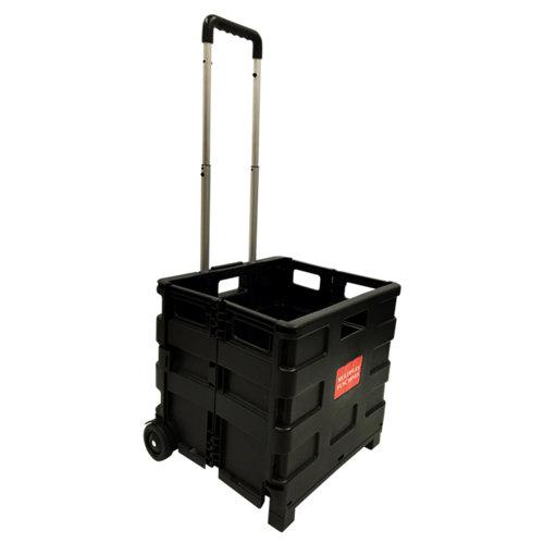 Carretilla plegable con ruedas macizas y 15 kg de carga máxima