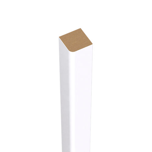 Liston de mdf melamina blanca 15x15 mm x 2,43 m (ancho x grueso x largo)