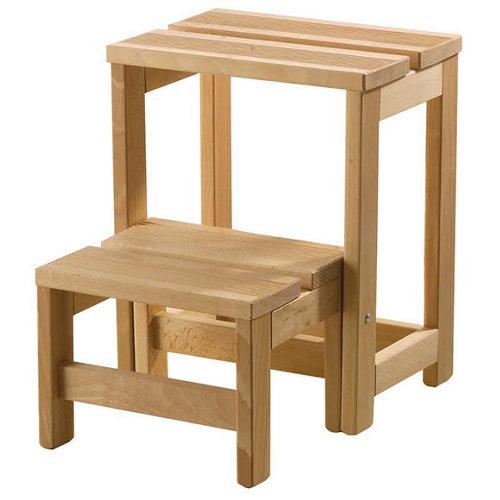 Taburete de madera para 100 kg de carga y 40 cm de alto