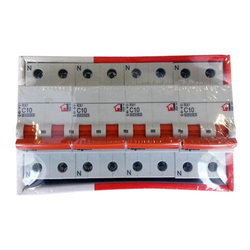 Interruptor magnetotérmico unipolar + neutro legrand de 10a con 2 módulos