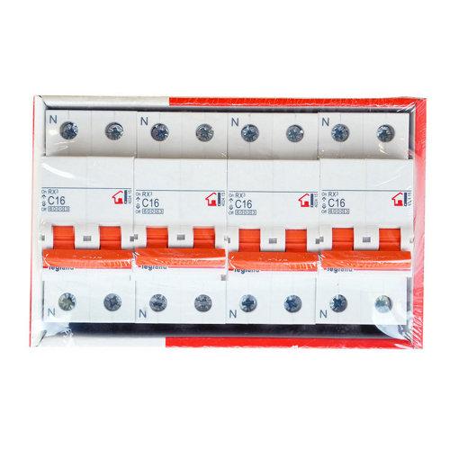 Pack de interruptores magnetotérmicos legrand 1p+n 16a