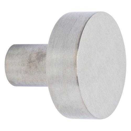 Pomo de mueble de acero inoxidable satinado de 30x28x30 mm