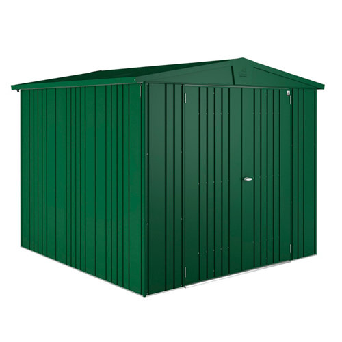 Caseta de metal europa verde de 244x203x228 cm y 5.56 m2