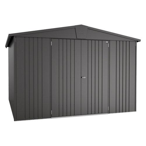 Caseta de metal europa gris de 316x209x300 cm y 9.48 m2