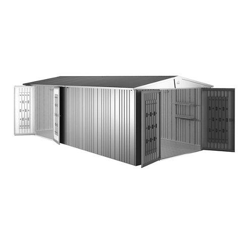 Caseta de metal europa plata de 316x209x300 cm y 9.48 m2