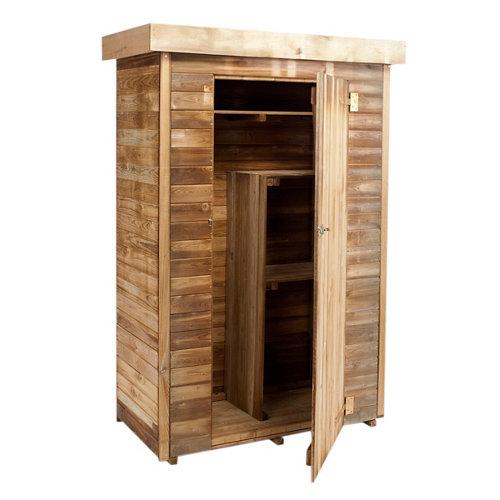 Armario de exterior de madera theo 131x176x60 cm