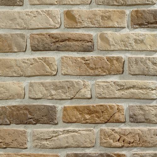 Revestimiento pared texturizado de hormigón prefabricado multicolor 21,5x6,5