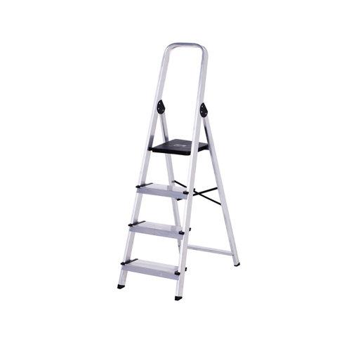 Escalera de uso doméstico de aluminio 4 peldaños
