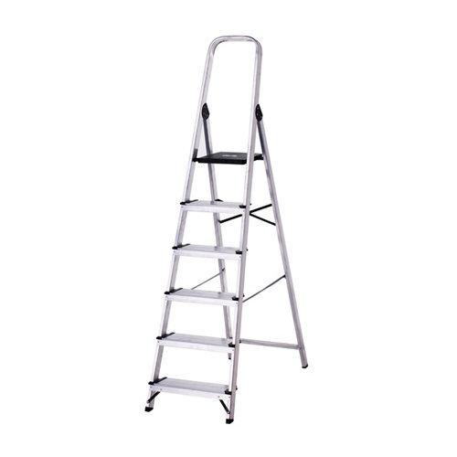Escalera de uso doméstico de aluminio 6 peldaños