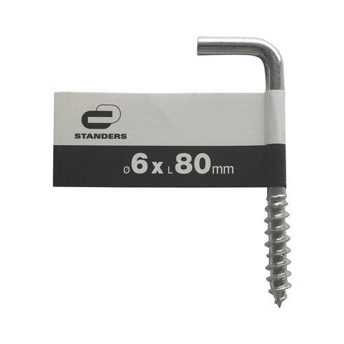 Escarpia para atornillar de acero de 6x80 mm