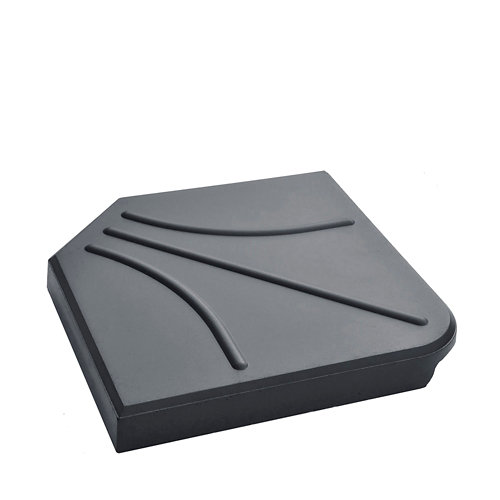 Pie de parasol cuadrada cemento de 24 kg