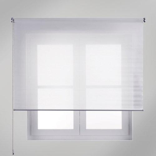 Estor enrollable translúcido mesh blanco de 124x250cm