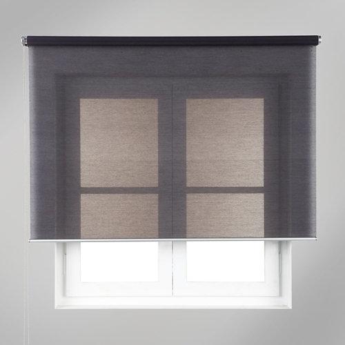 Estor enrollable translúcido mesh gris de 84x250cm