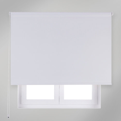 Estor enrollable opaco nash blanco de 84x190cm