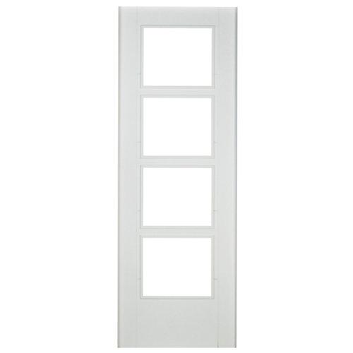 Puerta de interior corredera noruega blanco de 82.5 cm