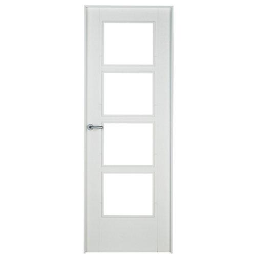 Puerta noruega blanco de apertura derecha de 72.5 cm