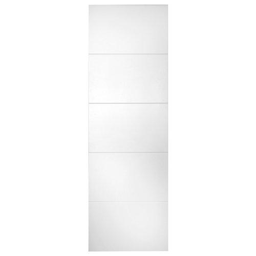 Puerta de interior corredera lucerna blanco de 82.5 cm