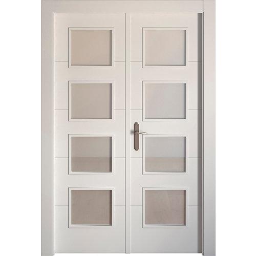 puerta lucerna blanco de apertura derecha de 145 cm