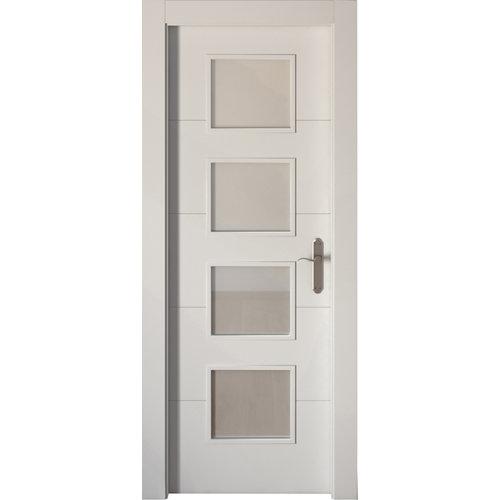 Puerta de interior abatible vidriera de apertura izquierda de 72.5 cm