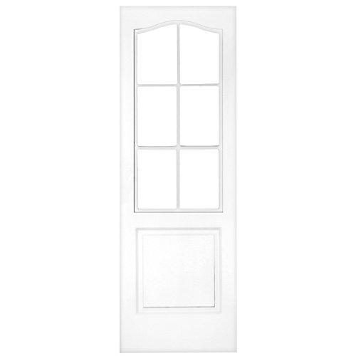 Puerta de interior corredera praga blanco de 72.5 cm