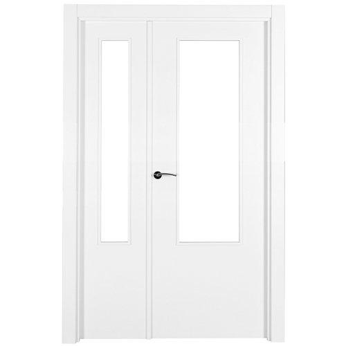 puerta lyon blanco de apertura derecha de 115 cm