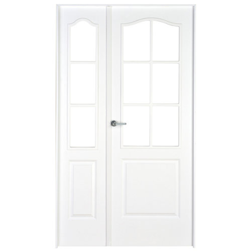 puerta praga blanco de apertura derecha de 105 cm