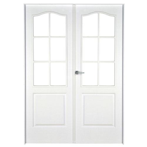 puerta praga blanco de apertura derecha de 145 cm