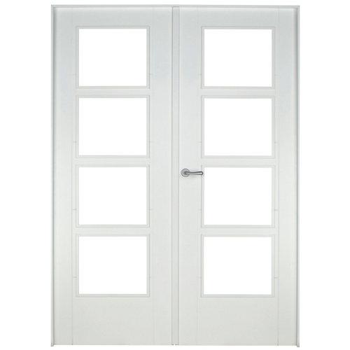 puerta noruega blanco de apertura derecha de 145 cm